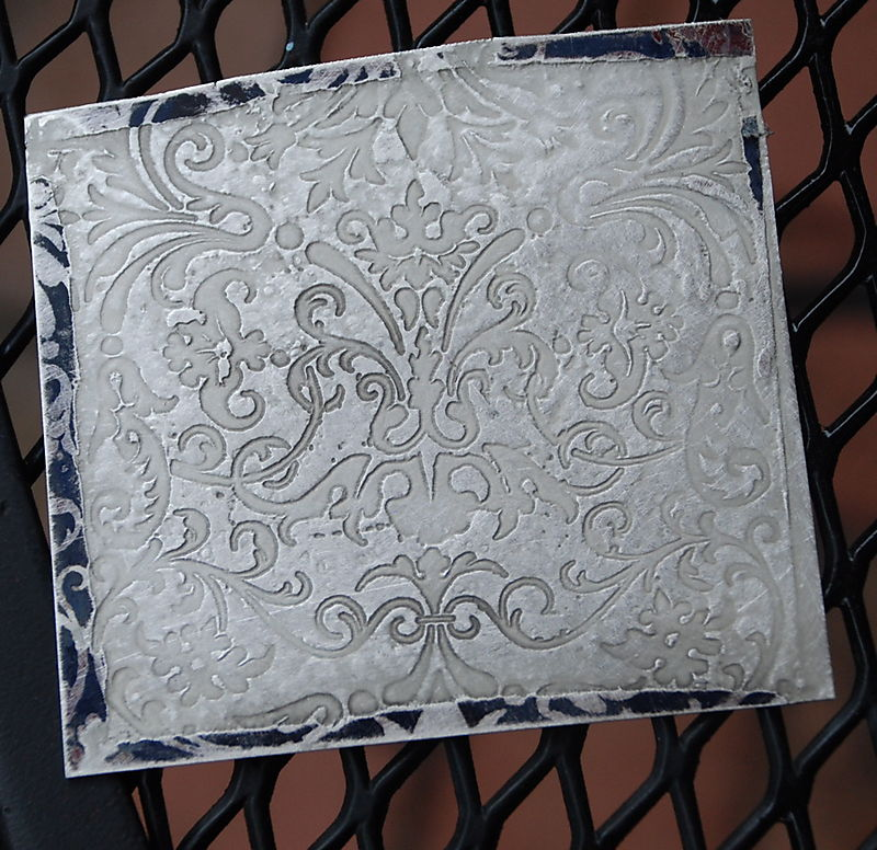 Etched silver