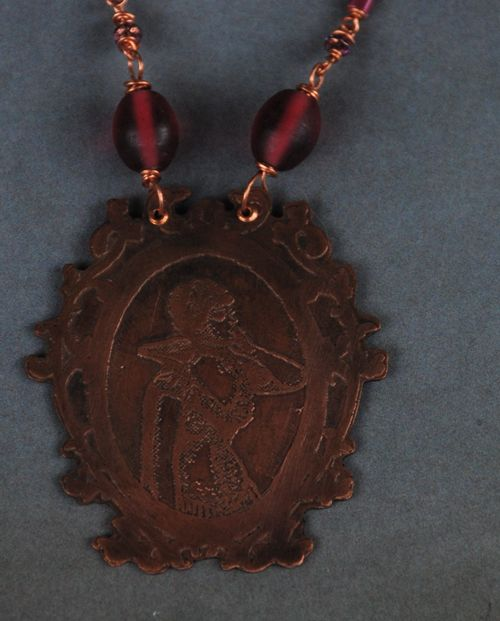 Etched cameo