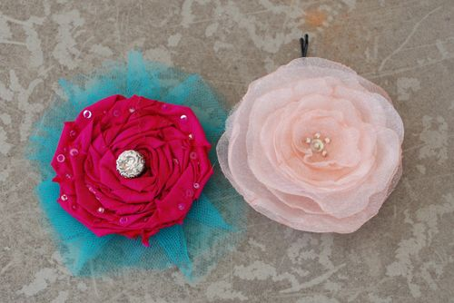Second batch of fabric flowers