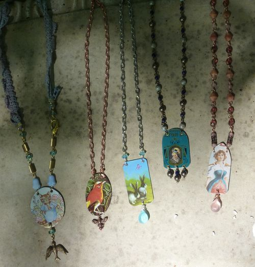 Sneek peak new tin necklaces