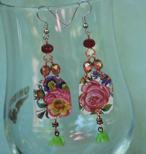 Rose earrings 2